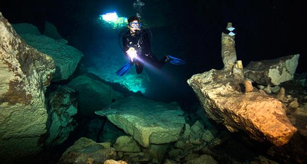 Scuba Playa Cenote Dive Image